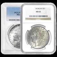 1921 Morgan Silver Dollar MS-63 Silver Coin