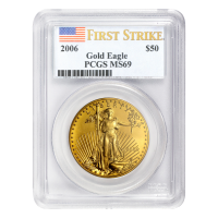 1 oz 2006 American Eagle First Strike MS-69 Gold Coin