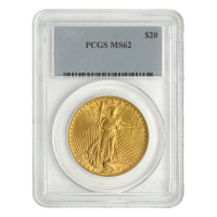 Random Year $20 Saint-Gaudens Double Eagle MS-62 Gold Coin