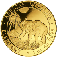 1 oz 2017 Somalian African Elephant Gold Coin