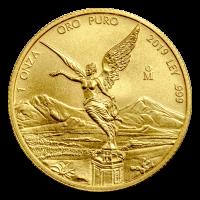 Pièce d'or Libertad mexicaine 2019 de 1 once