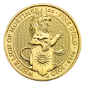 1 oz 2020 Royal Mint Queen's Beasts | White Lion of Mortimer Gold Coin