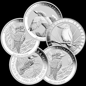 1 kg   Kilo Perth Mint Random Year Kookaburra Silver Coin