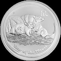 1 kg | Kilo Silbermünze Jahr der Maus Mondserie 2008
