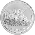 1 kg | kilo 2008 Lunar Year of the Mouse Silver Coin