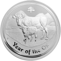 1 kg | kilo 2009 Lunar Year of the Ox Silver Coin
