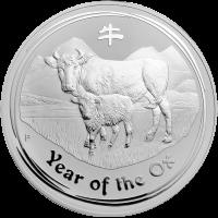 1 kg | Kilo Silbermünze Jahr des Ochsen Mondserie 2009