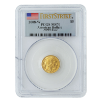 1/10 2008 Buffalo First Strike MS-70 Gold Coin