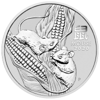 5 oz 2020 Perth Mint Lunar Year of the Mouse Silver Coin