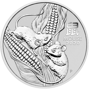 1 kg | kilo 2020 Perth Mint Lunar Year of the Mouse Silver Coin