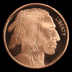 1 oz Silvertowne Buffalo Copper Round