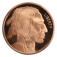 Ronda de cobre Búfalo Silvertowne de 1 onza