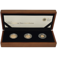 Random Year Great Britain Sovereign 3 Gold Coin Proof Set