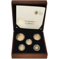 Random Year Great Britain Sovereign 5 Gold Coin Proof Set