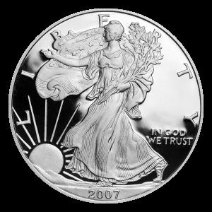 1 oz 2007 American Eagle Proof Silver Coin
