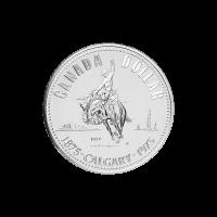 1975 Calgary Centennial | Canadian Silver Dollar 50% Pure Silver Coin