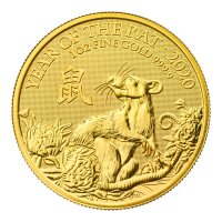 1 oz 2020 The Royal Mint Lunar Year of the Rat Gold Coin