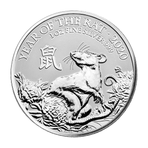 1 oz 2020 The Royal Mint Lunar Year of the Rat Silver Coin