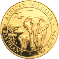 1 oz 2015 Somalian African Elephant Gold Coin