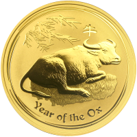 1 oz 2009 Lunar Year of the Ox Perth Mint Gold Coin