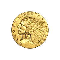 Random Year $5 Indian Half Eagle Circulation Gold Coin