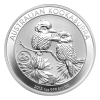 1 oz 2013 Australian Kookaburra Snake Privy Silver Coin