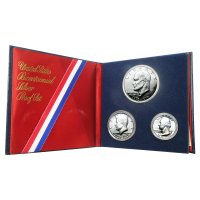 Set of 3 x 1976 U.S. Bicentennial 40% Silver Proof Coins
