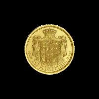 Random Year Denmark 10 Kroner Gold Coin