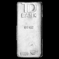 20 oz Johnson Matthey TD Bank Vintage Silver Bar