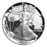 1 oz 1989 American Eagle Proof Silver Coin