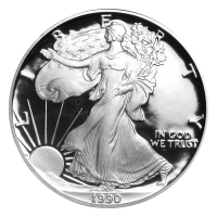1 oz 1990 American Eagle Proof Silver Coin