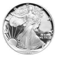 1 oz 1991 American Eagle Proof Silver Coin