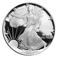 1 oz 1992 American Eagle Proof Silver Coin