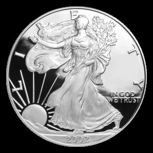 1 oz 2002 American Eagle Proof Silver Coin