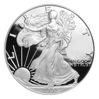 1 oz 2002 American Eagle Proof Silver Coin