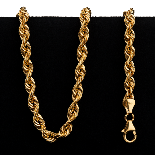 27.6 g 22 kt Twisted Rope Style Gold Necklace