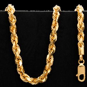 Collier en or 22 carats de style torsadé de 55,3 g