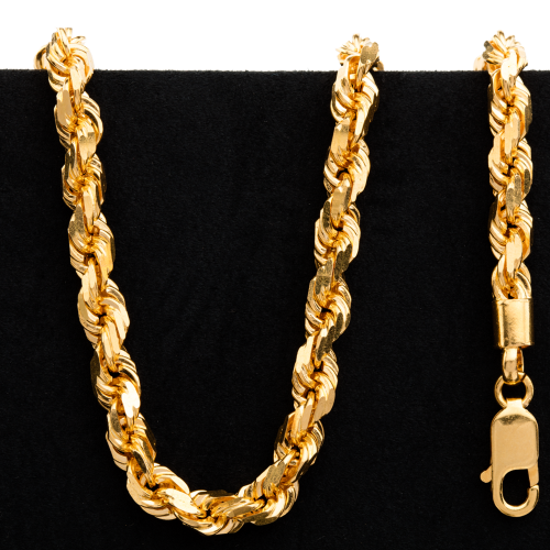 66.3 g 22 kt Twisted Rope Style Gold Necklace