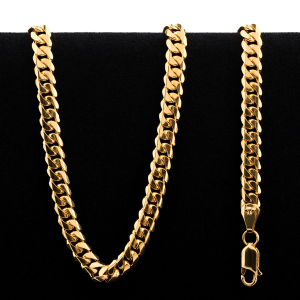 49.5 g 22 kt Rounded Curb Style Gold Necklace