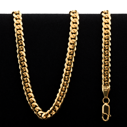49.86 g 22 kt Rounded Curb Style Gold Necklace