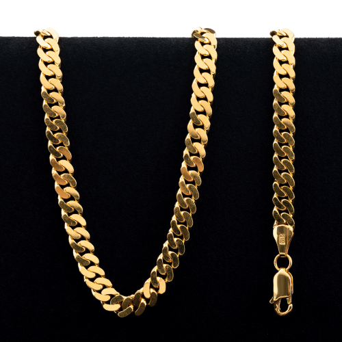 53.0 g 22 kt Curb Style Gold Necklace
