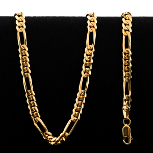 49.4 g 22 kt Rounded Figarucci Style Gold Necklace