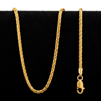6.4 gram 22 kt Rolo Style Gold Necklace