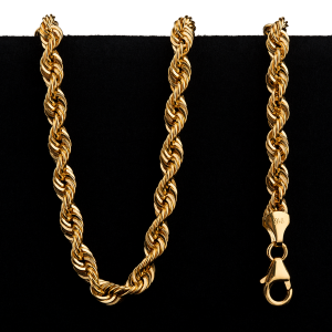 15.3 g 22kt Twisted Rope Style Gold Necklace
