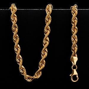 Collier en or 22 carats de style torsadé de 23,5 g