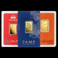 10 g ausgewählter Goldbarren