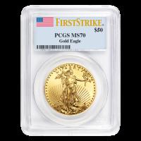 1 oz Random Year American Eagle MS-70 Gold Coin
