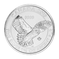 1.5 oz 2018 Canadian Snow Owl Silver Coin