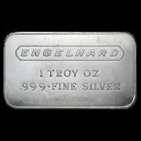 1 oz Engelhard Vintage Frosted Back Silver Bar
