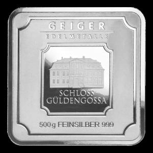 500 gram Geiger Edelmetalle Silver Bar